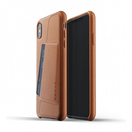 MUJJO Full Leather Wallet Case for iPhone XS Max Tan