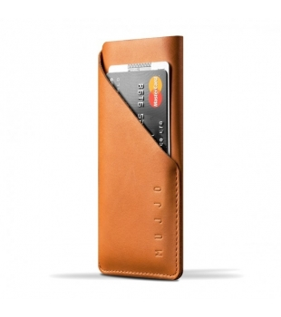 MUJJO Leather Wallet Sleeve for iPhone X Tan