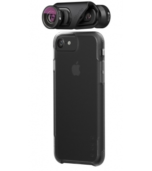 olloclip Core Lens + 2 cases iPhone 7/8 & 7/8 Plus Black