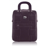 "Premium Leather V Bag 13"" Purple"